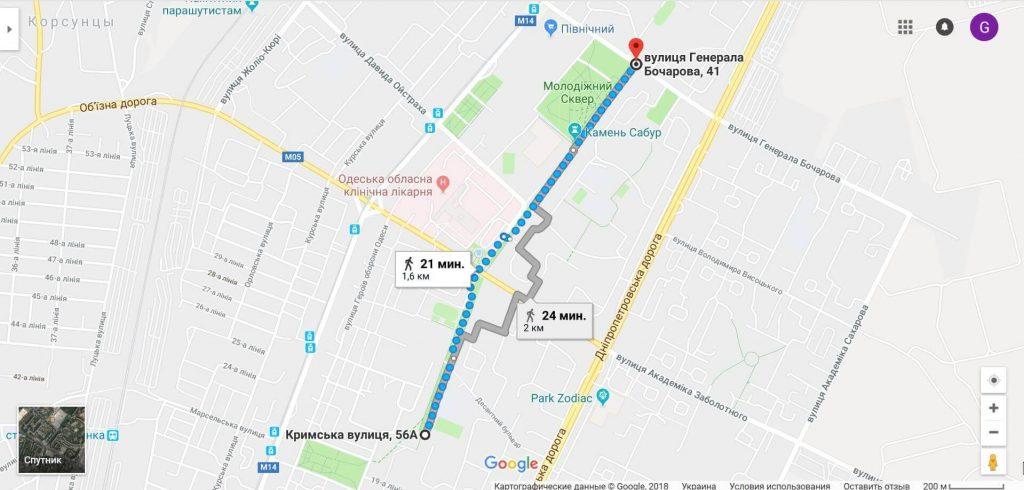 Посёлок Котовского и улица Крымская
